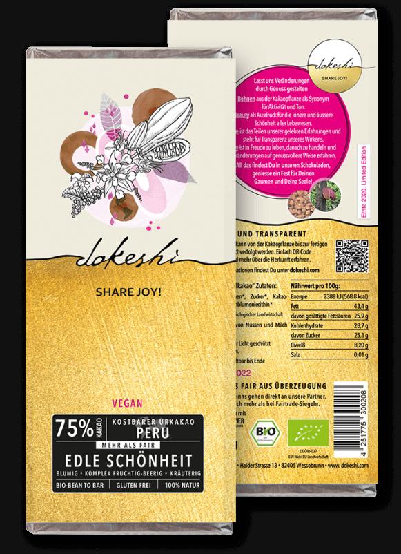 Dunkle Schönheit 75% Chuncho Urkakao