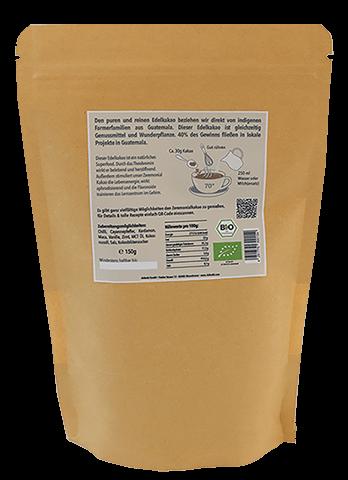 100% Bio-Kakao geraspelt: Pures Maya Glück